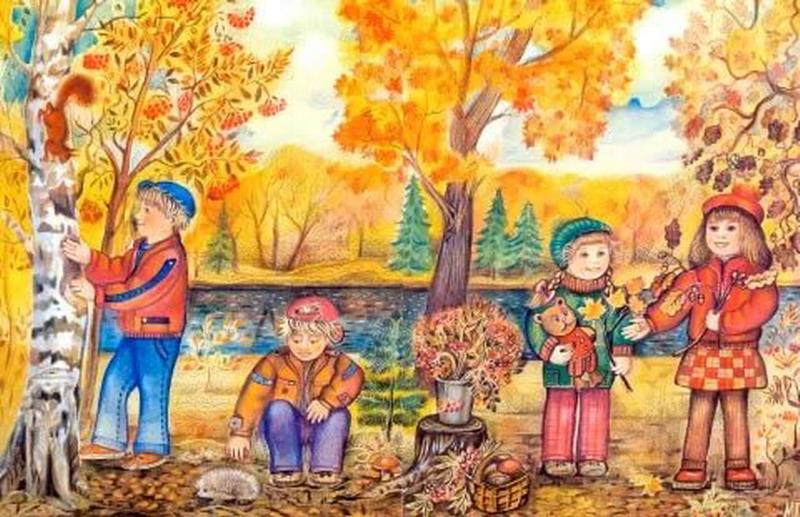 Февраля, картинки об осени для детей 3-4