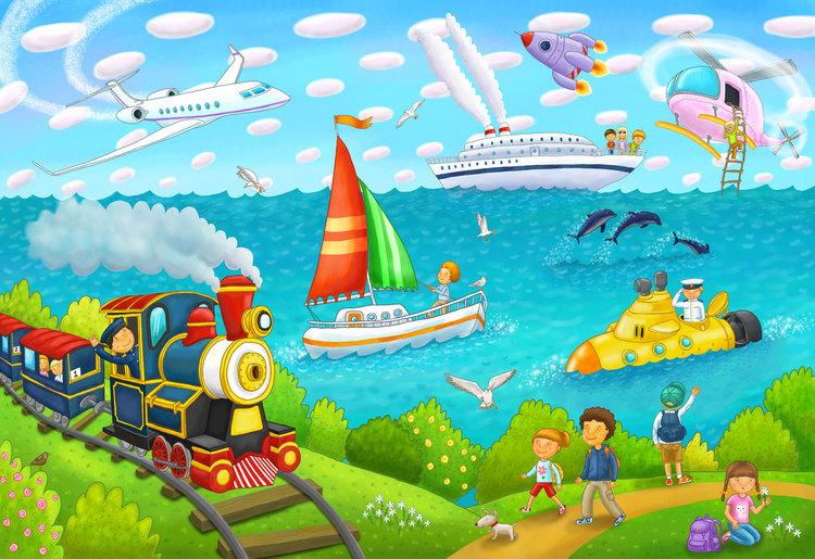 Картинки о путешествиях для детей