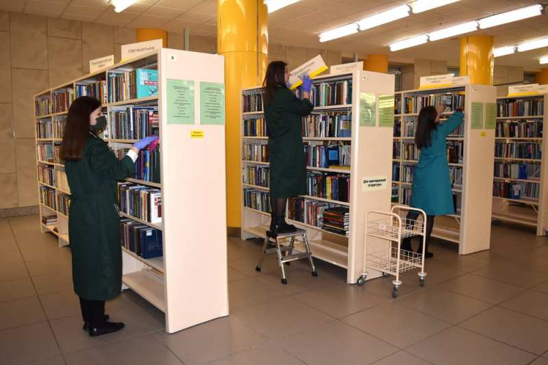 The National Library of Belarus takes part in the cleanup