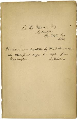 Lincoln's handwriting found on book about race