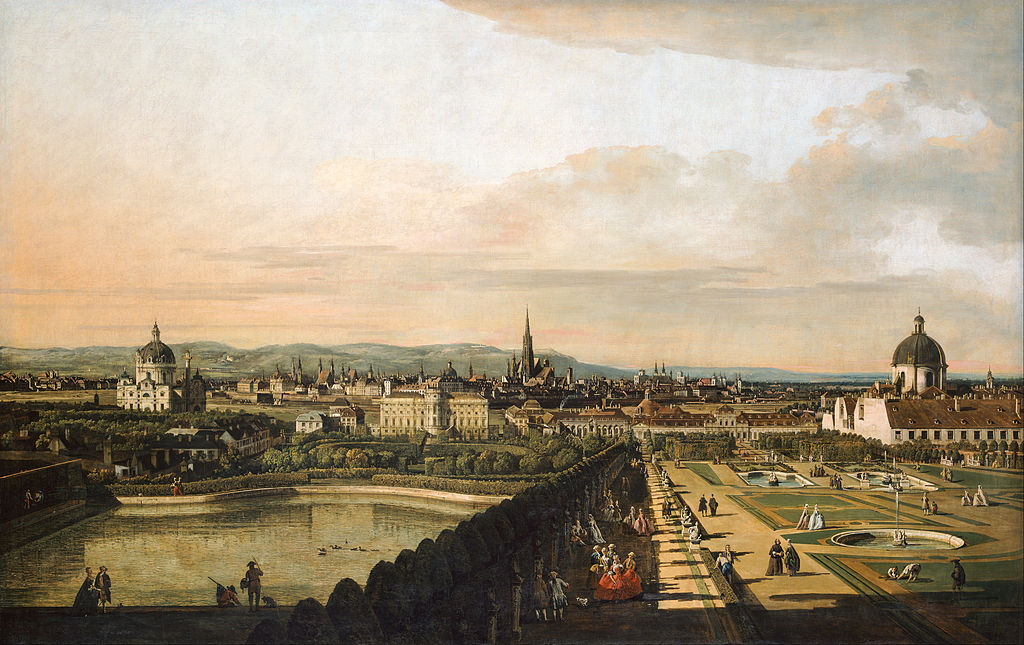 The Vienna's cityscape from the Belvedere by B. Belotto. 1758–1761
