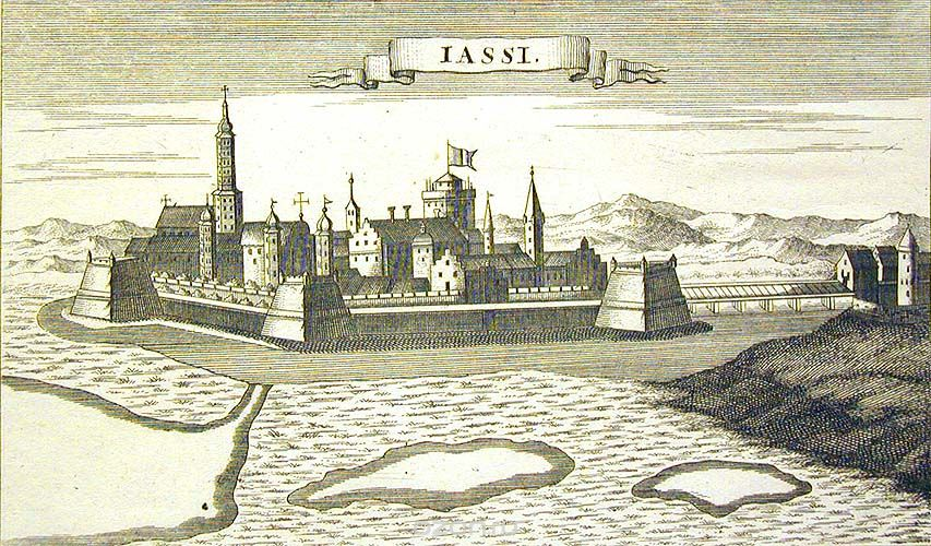 The Jassy city. Engraving by G. Bodenehr. First half of the 18th century