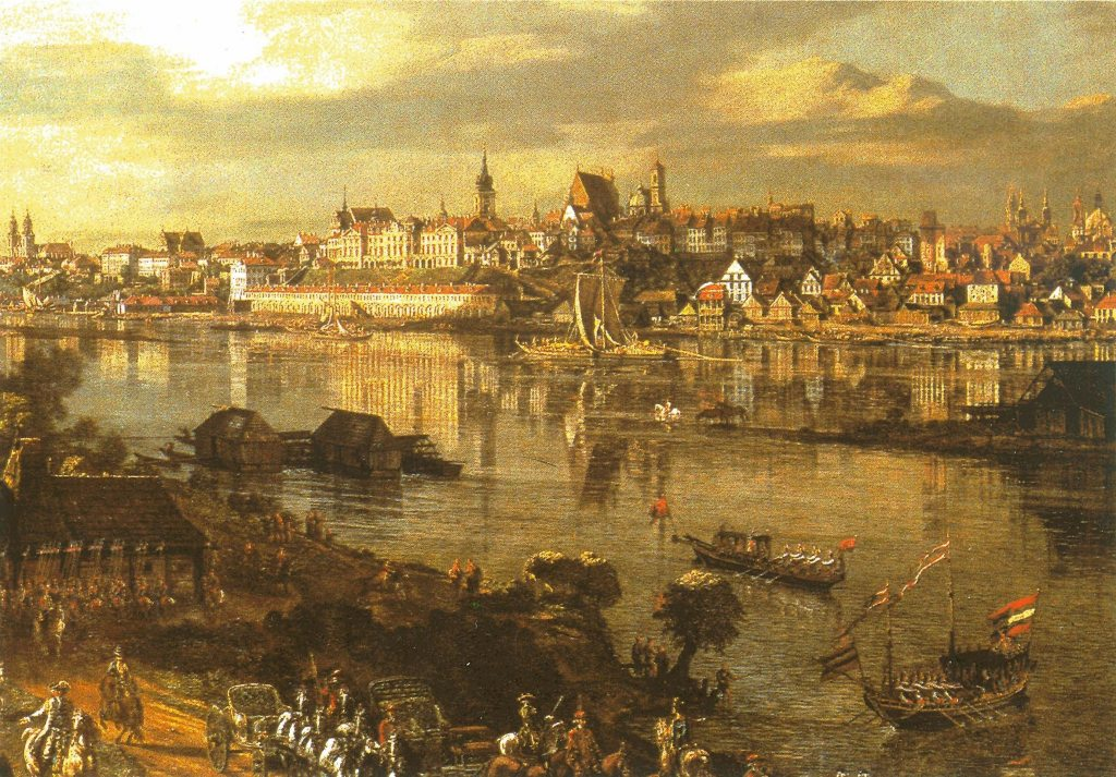 The Warsaw cityscape from the Royal Castle terrace by B. Belotto. 1773