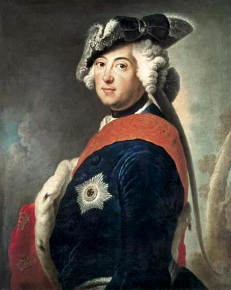 The King of Prussia Frederick II (1712–1786) by A. Pesne. About 1745