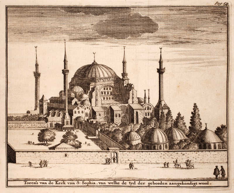 The Hagia Sophia by A. Reland. 1719