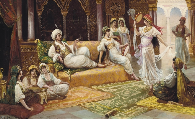 Dance in a harem by Y. Delincourt
