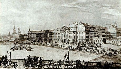 Winter Palace in St. Petersburg: the residence of the Empress Anna Ioannovna