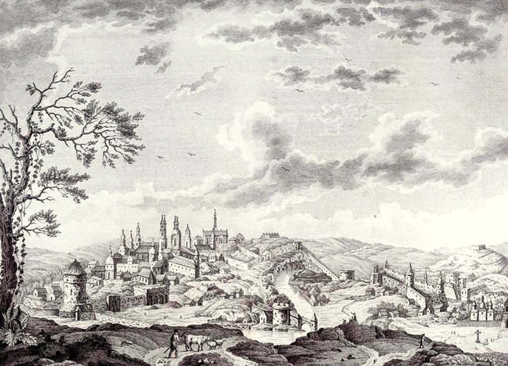 The Kamenetz-Podolsk cityscape and the fortress from the east side by E. Koshkin. 1794