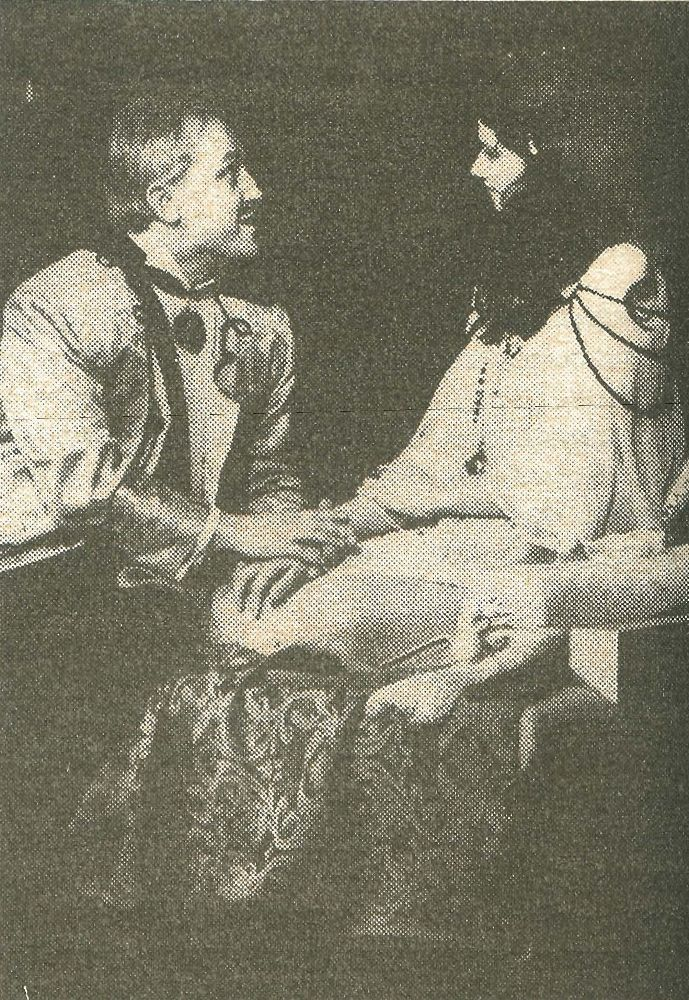A scene from the «Salamea and I yaye amaraty» spectacle based on a play by S. Kovalev