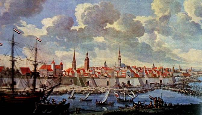 In 18th century Riga has almost completely retained its medieval image