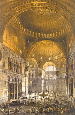 The Hagia Sophia by Fossati brothers. 1852